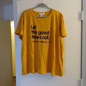 Mustard Yellow plus size tee